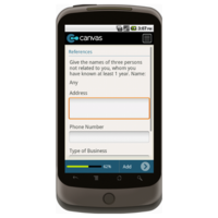Android: Application for Employment (Short) - TheContractorsGroup.com Mobile App (Example 3)