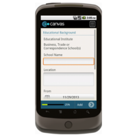 Android: Application for Employment (Long) - TheContractorsGroup.com Mobile App (Example 3)