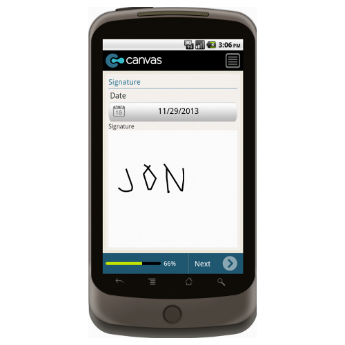 Android: Application for Employment (Long) - TheContractorsGroup.com Mobile App (Example 4)