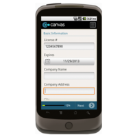 Android: Change Order Form w/Provision for License - TheContractorsGroup.com Mobile App (Example 1)