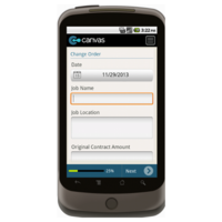 Android: Change Order Form w/Provision for License - TheContractorsGroup.com Mobile App (Example 2)