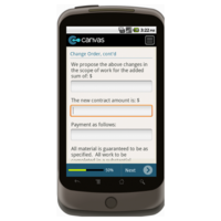 Android: Change Order Form w/Provision for License - TheContractorsGroup.com Mobile App (Example 3)
