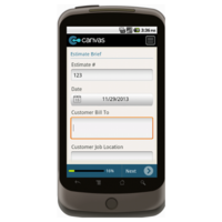 Android: Estimate/Work Order/Invoice Triplicate Form - TheContractorsGroup.com Mobile App (Example 1)