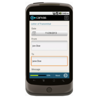 Android: Letter of Transmittal (Basic) - TheContractorsGroup.com Mobile App (Example 1)