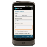 Android: Warranty Statement - TheContractorsGroup.com Mobile App (Example 1)