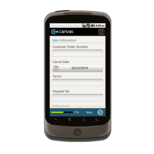 Android: Apparel Retail Form Mobile App (Example 4)