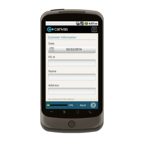 Android: Carpet Cleaners - Service Form Mobile App (Example 1)