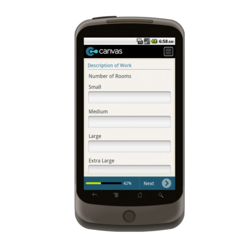 Android: Carpet Cleaners - Service Form Mobile App (Example 3)