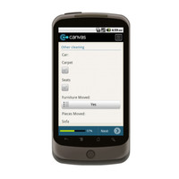 Android: Carpet Cleaners - Service Form Mobile App (Example 4)