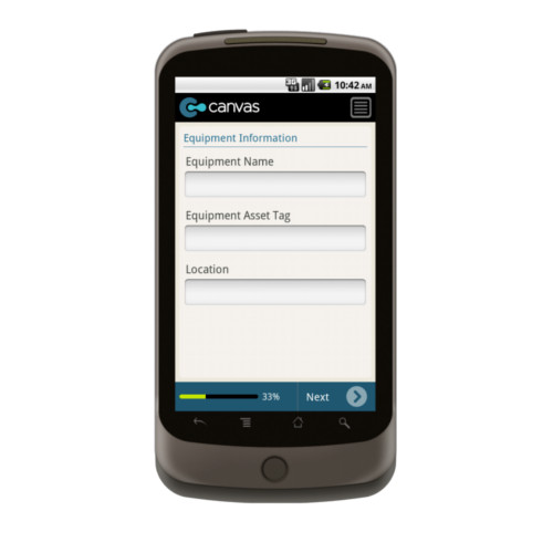 Android: Equipment Maintenance Mobile App (Example 1)