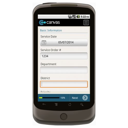 Android: Utility Service Order Mobile App (Example 1)