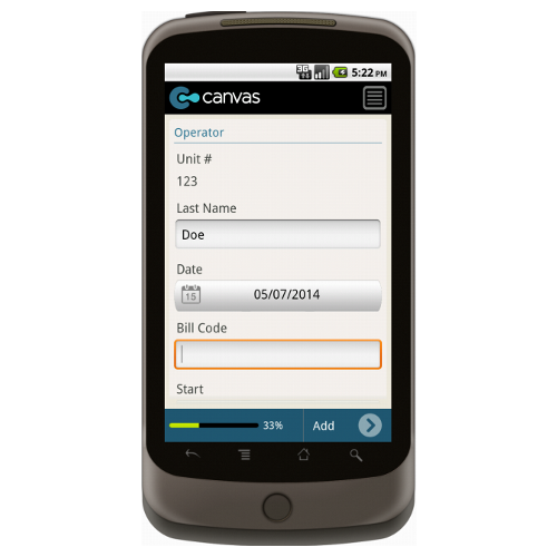 Android: Utility Service Order Mobile App (Example 2)