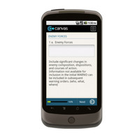 Android: WARNING ORDER Mobile App (Example 1)