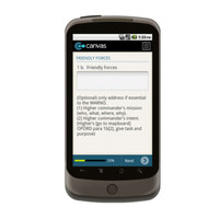 Android: WARNING ORDER Mobile App (Example 2)