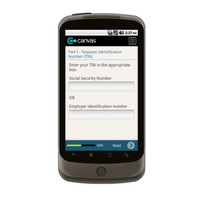 Android: W9-Taxpayer ID Number and Certification Mobile App (Example 3)
