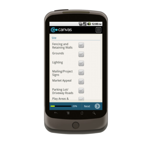 Android: HUD Uniform Physical Condition Standards Checklist Mobile App (Example 2)