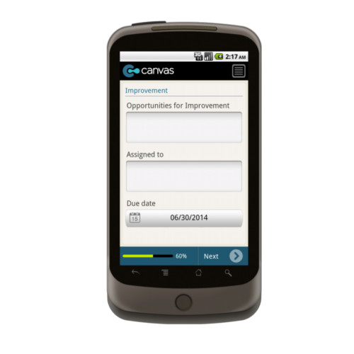 Android: Health and Safety Work Observation Mobile App (Example 3)