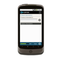 Android: Customer Contact List with GPS Location - Undercover Printer Mobile App (Example 2)