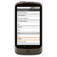 Android (1.5 - pre1.6): Sales Order Form (Simple) Mobile App (Example 1)