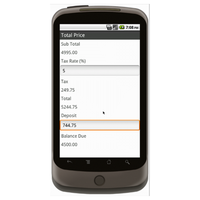 Android (1.5 - pre1.6): Sales Order Form (Simple) Mobile App (Example 3)