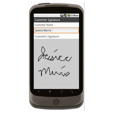 Android (1.5 - pre1.6): Sales Order Form (Simple) Mobile App (Example 4)