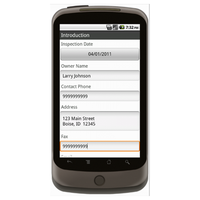 Android (1.5 - pre1.6): Vehicle Inspection Form w/ GPS Data Collection Mobile App (Example 1)