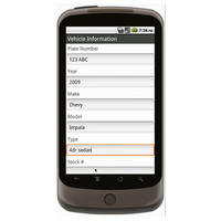 Android (1.5 - pre1.6): Vehicle Inspection Form w/ GPS Data Collection Mobile App (Example 2)