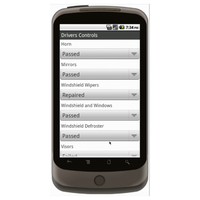 Android (1.5 - pre1.6): Vehicle Inspection Form w/ GPS Data Collection Mobile App (Example 3)