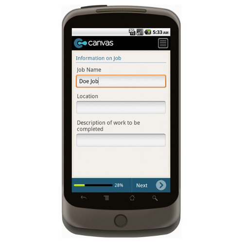 Android: Field Service Job Estimator Mobile App (Example 2)