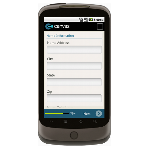 Android: New Customer Form Mobile App (Example 3)