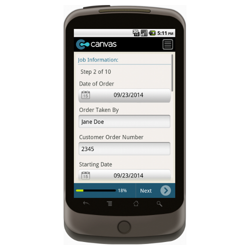 Android: Plumbing Work Order w/Checklist and Dispatch - Deluxe 6540 Mobile App (Example 2)