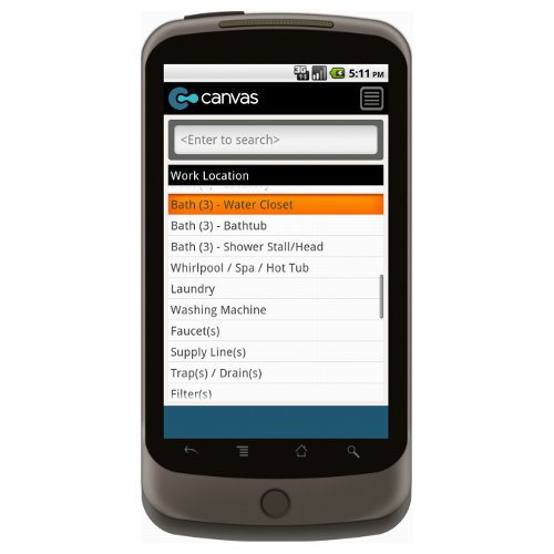 Android: Plumbing Work Order w/Checklist and Dispatch - Deluxe 6540 Mobile App (Example 3)