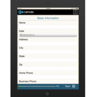 iPhone or iPad (iOS): Auto Body Repair Order Form Mobile App (Example 1)