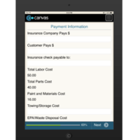 iPhone or iPad (iOS): Auto Body Repair Order Form Mobile App (Example 5)