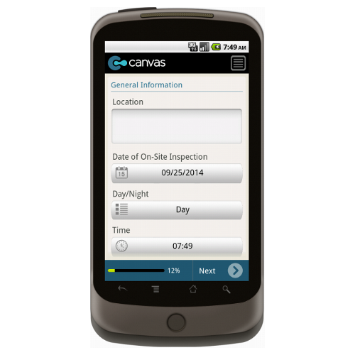 Android: Safety Checklist for Roadworks - Safety-Link Mobile App (Example 1)