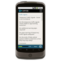 Android: Safety Checklist for Roadworks - Safety-Link Mobile App (Example 3)