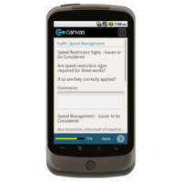 Android: Safety Checklist for Roadworks - Safety-Link Mobile App (Example 4)