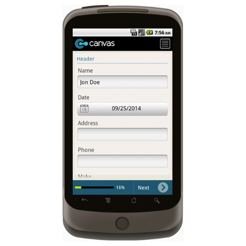 Android: Service Order Form with Dispatch (Generic Very Simple) Mobile App (Example 1)