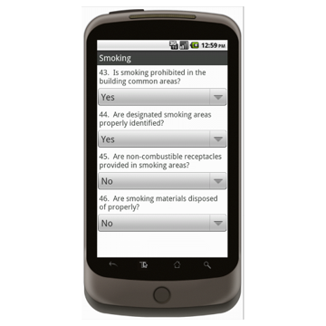 Android (1.5 - pre1.6): Building Inspection Checklist Mobile App (Example 3)
