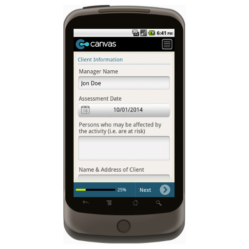 Android: School Health and Safety Risk Assessment - Safety-Link Mobile App (Example 1)