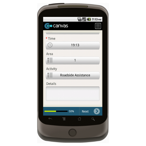 Android: Business Improvement District Daily Activity Log Mobile App (Example 3)