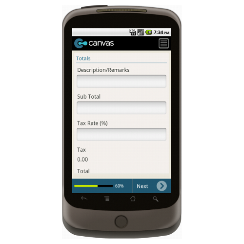 Android: Pest Control Service Invoice - Motorola Solutions Mobile App (Example 3)