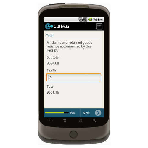 Android: Basic Sales Receipt Mobile App (Example 4)