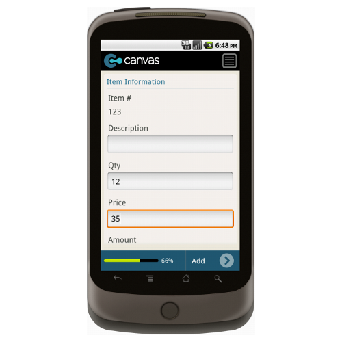 Android: Basic Order Form Mobile App (Example 3)