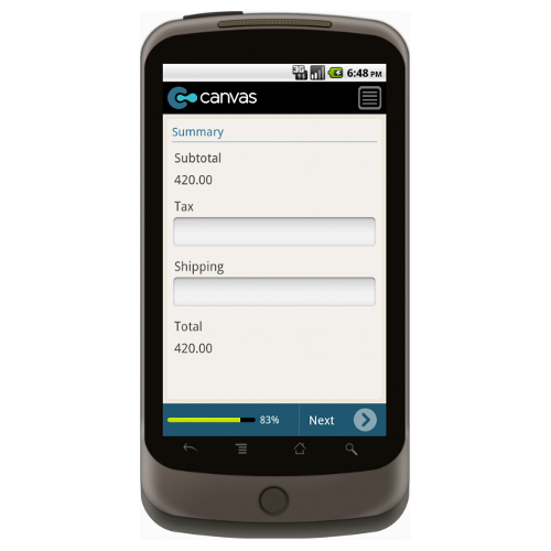 Android: Basic Order Form Mobile App (Example 4)