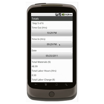 Android (1.5 - pre1.6): Technical Service Orders  - Deluxe 313 Mobile App (Example 4)
