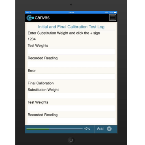 iPhone or iPad (iOS): Certificate of Inspection and Calibration (Water Scale) - ScaleResource Mobile App (Example 2)