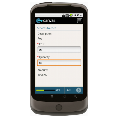 Android: Basic Estimate Mobile App (Example 2)