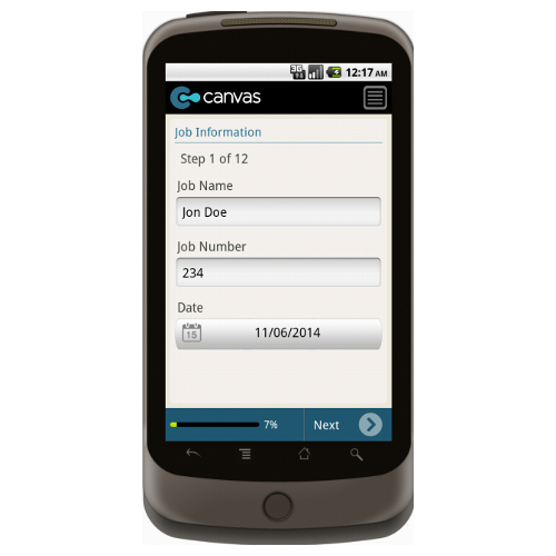 Android: Garage Repair Order - Deluxe 655 Mobile App (Example 1)