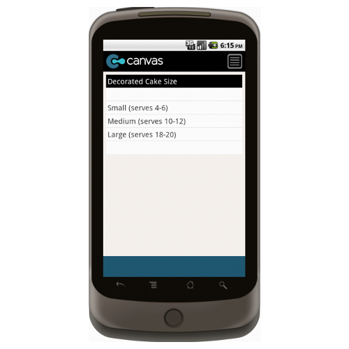 Android: Create a Cake Form Mobile App (Example 2)